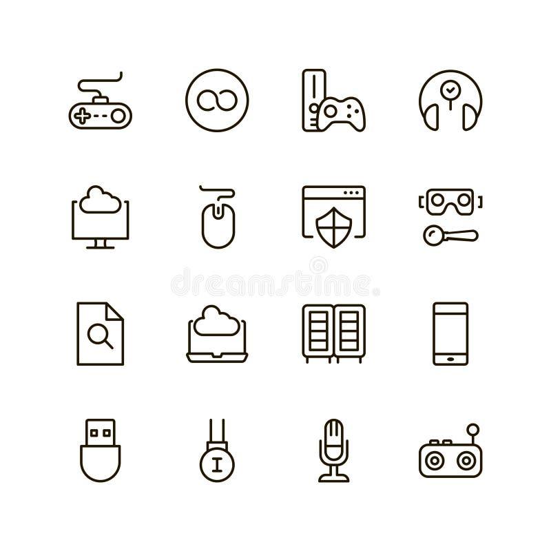 Gemowy ikona set royalty ilustracja