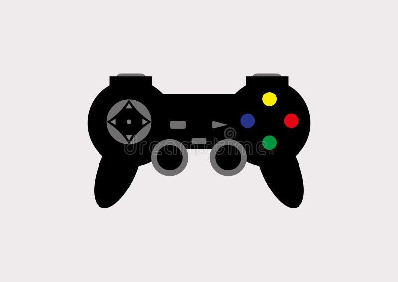 Gemowy joystick również zwrócić corel ilustracji wektora Joystick dla wideo gier ilustracja wektor