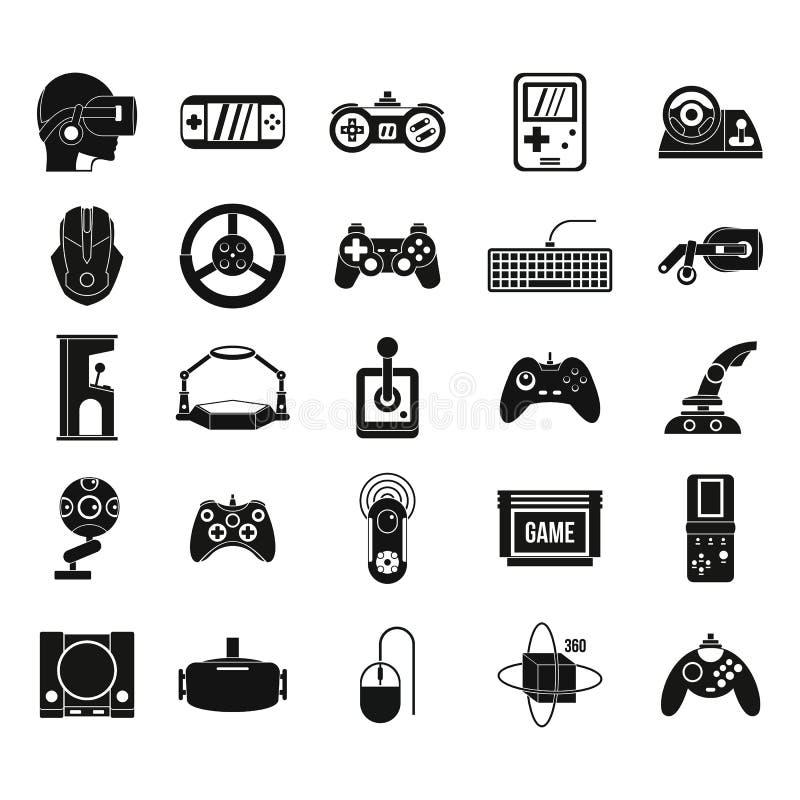 Gemowy konsoli ikony set, prosty styl ilustracja wektor