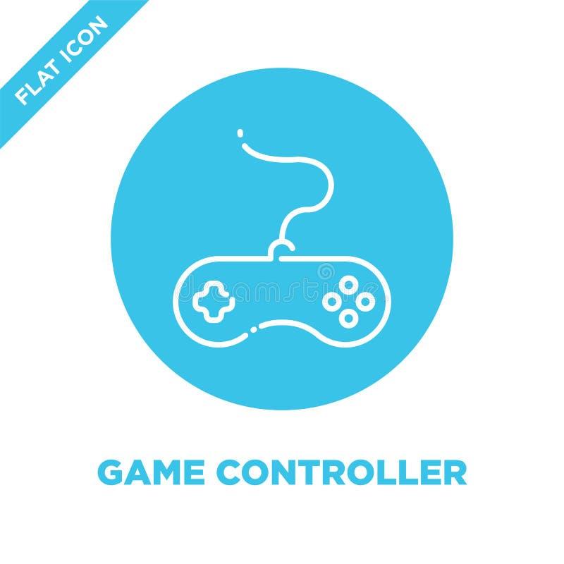 Gemowy kontroler ikony wektor Cienka kreskowa gemowa kontrolera konturu ikony wektoru ilustracja gemowy kontrolera symbol dla uży ilustracja wektor