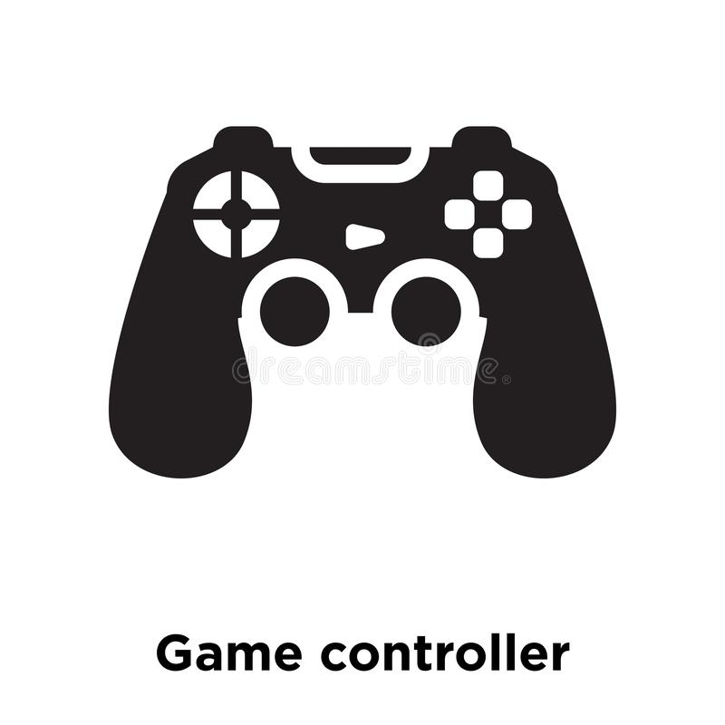 Gemowy kontroler ikony wektor odizolowywający na białym tle, logo c ilustracja wektor