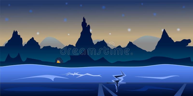 Gemowy nocy t?a wektor bezszwowy royalty ilustracja