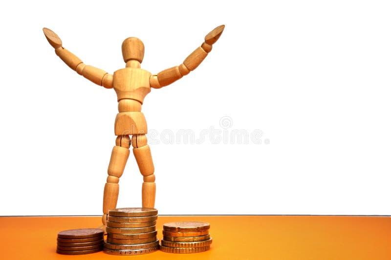 Gemowy postaci pojęcie dla sukcesu, robi pieniądze, loteria - z copyspace obrazy stock