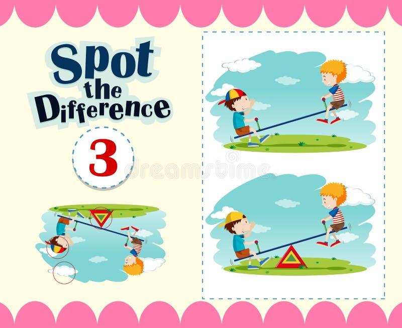 Gemowy szablon punkt różnica ilustracji