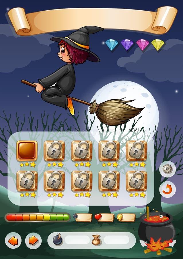 Gemowy szablon z Halloween tematem ilustracji