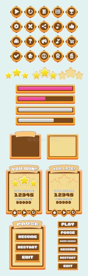 Gemowy UI Chocho ilustracja wektor