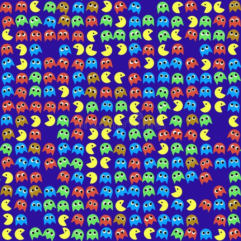Gemowych potworów bezszwowy wytwarzający wzór ilustracji