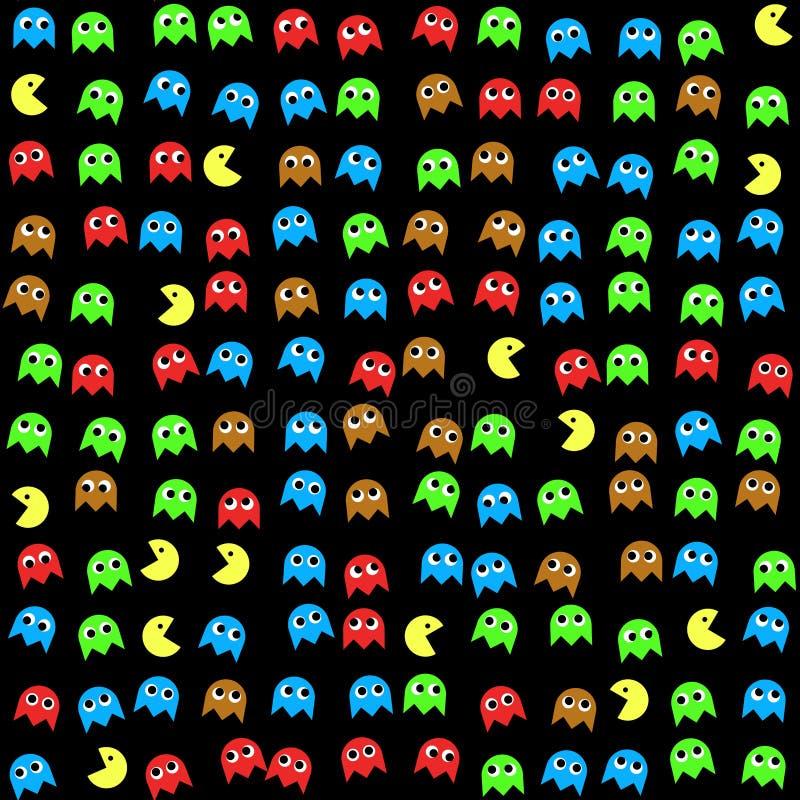 Gemowych potworów bezszwowy wytwarzający wzór ilustracja wektor