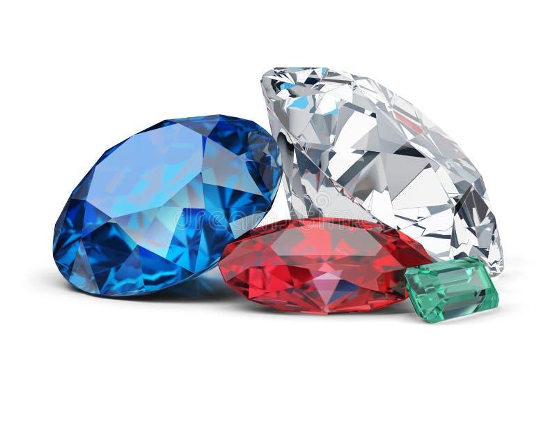 Gems stock illustration