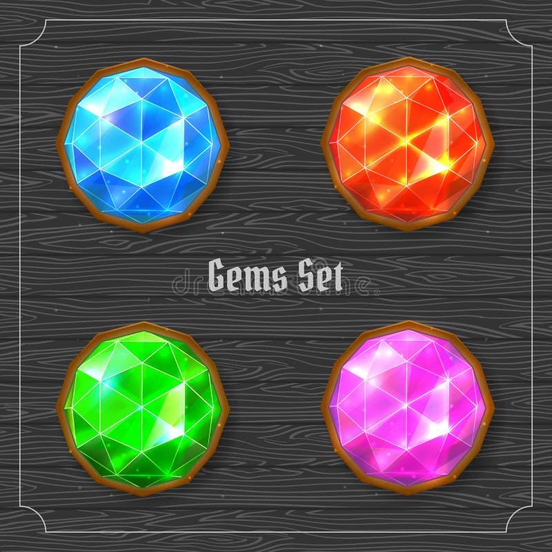 Gems set royalty free illustration