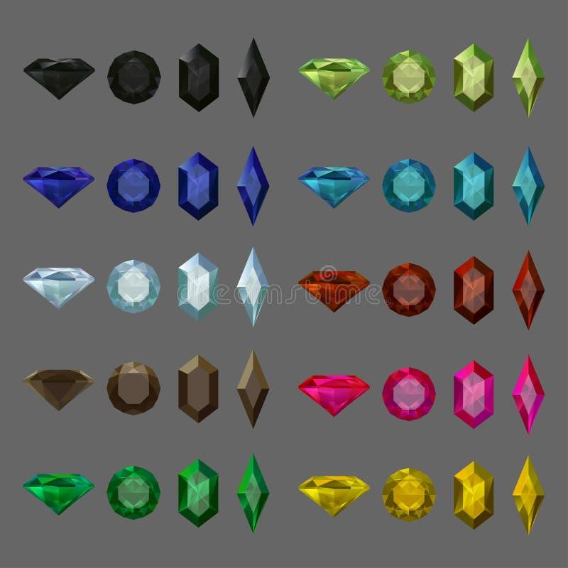 Gems set stock illustration