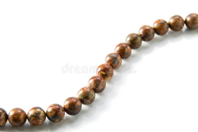 Gemstone beads stock image