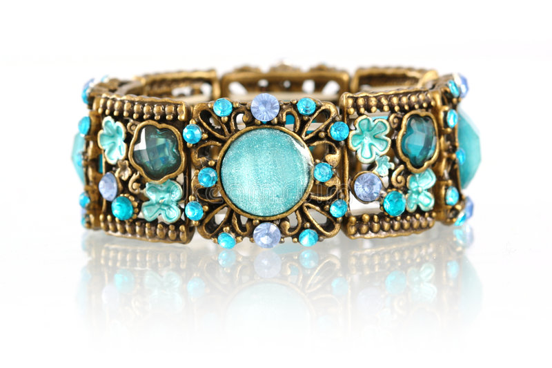 Download Gemstone bracelet stock image. Image of frontal, beautiful - 4294337