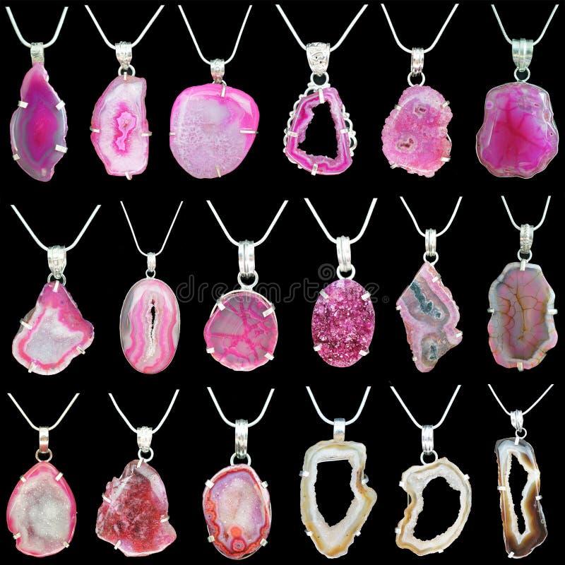 Gemstone breloczki obrazy royalty free
