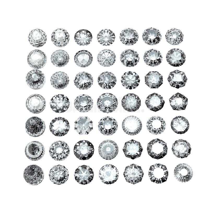 gemstone Collezioni di gemme dei monili fotografia stock