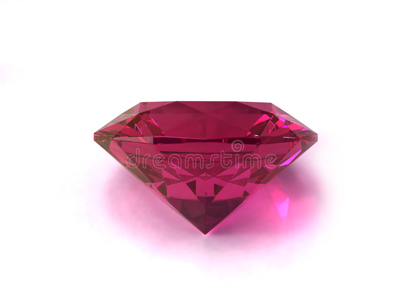 Gemstone de Rodolite fotografia de stock