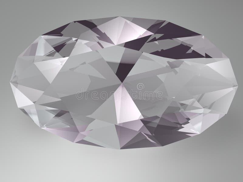 Gemstone do Alexandrite ilustração stock