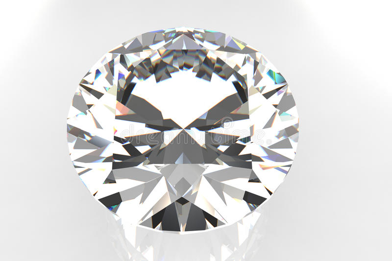 Gemstone do diamante do corte do europeu ilustração royalty free