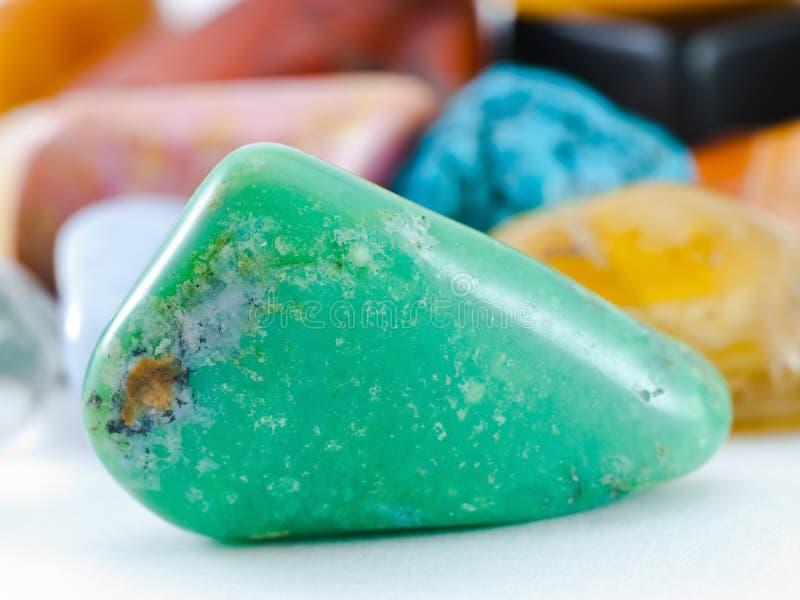 Gemstone do Nephrite imagem de stock royalty free