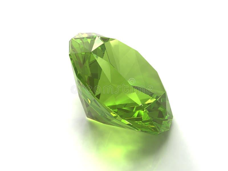 Gemstone do Peridot ou do chysolite imagens de stock
