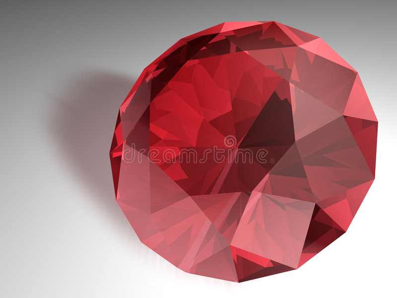 Gemstone do rubi ilustração royalty free
