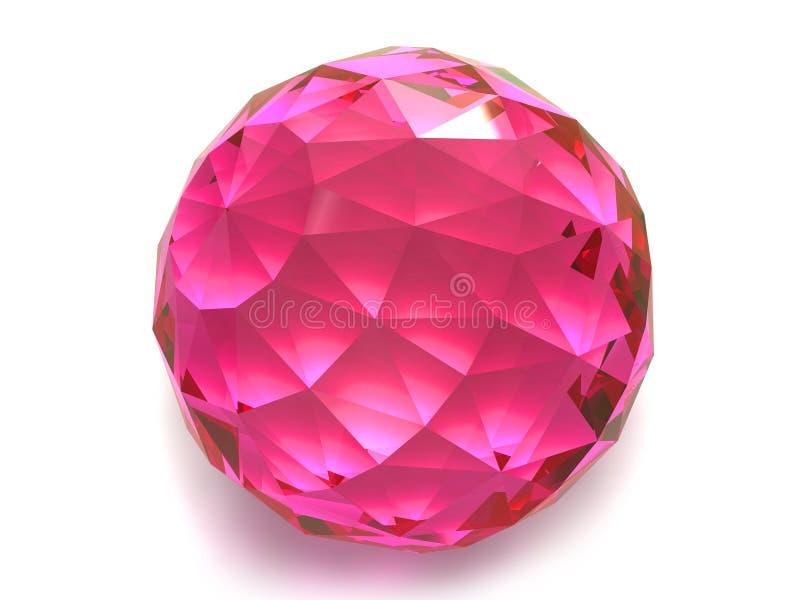 Gemstone do rubi ou do Rodolite fotografia de stock