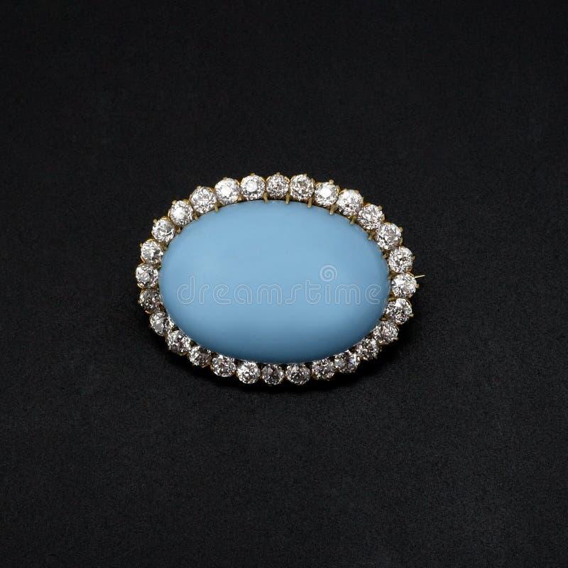 Gemstone e Brooch do diamante fotografia de stock