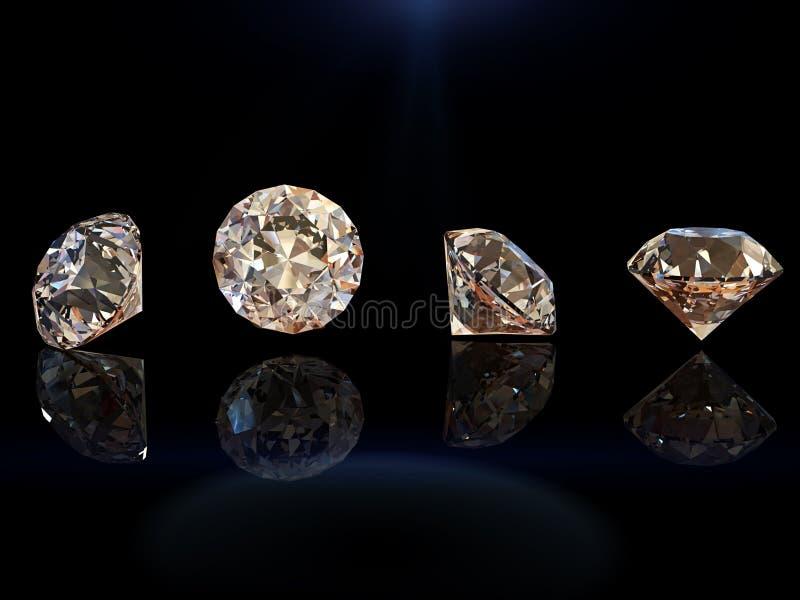 Gemstone för rund form markis för samlingsgemssmycken arkivfoton
