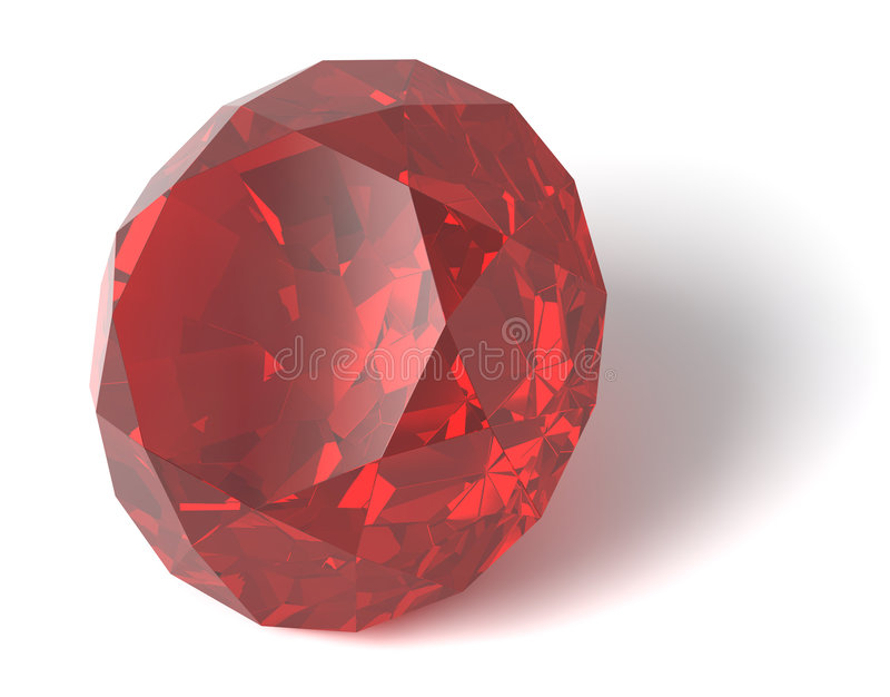gemstone isolerad ruby stock illustrationer