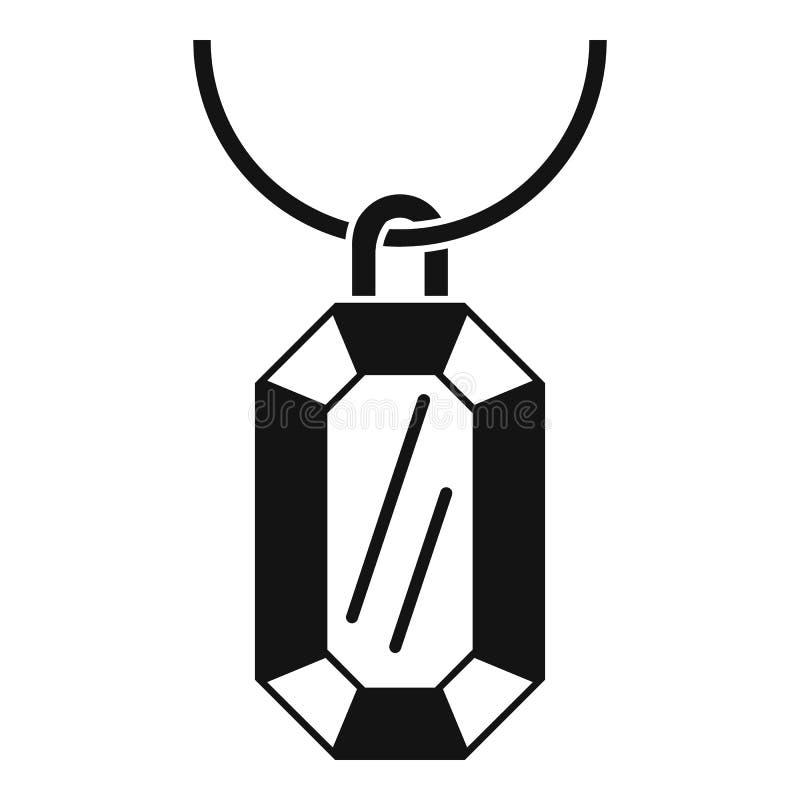 Gemstone kolii ikona, prosty styl ilustracja wektor