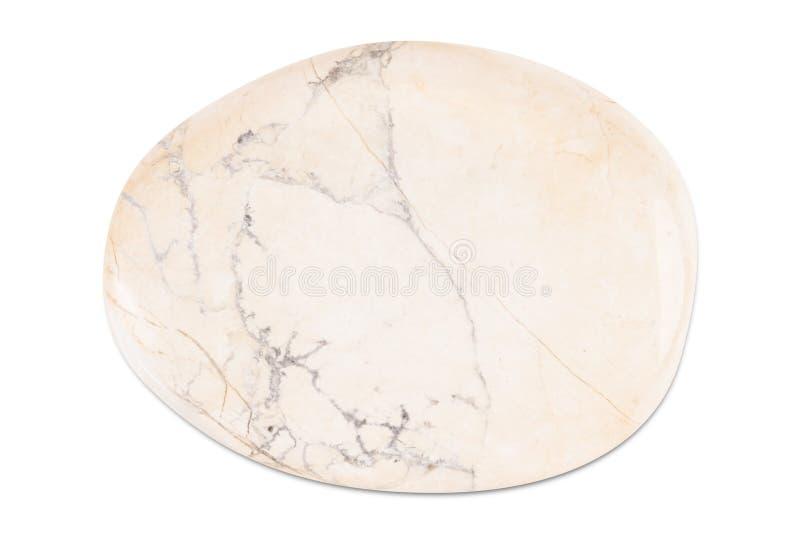 Gemstone på vit bakgrund, vit jaspis arkivfoto