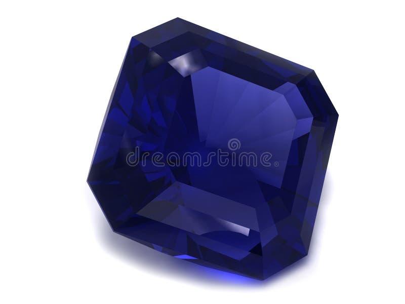 Gemstone preto ou azul da safira fotos de stock royalty free