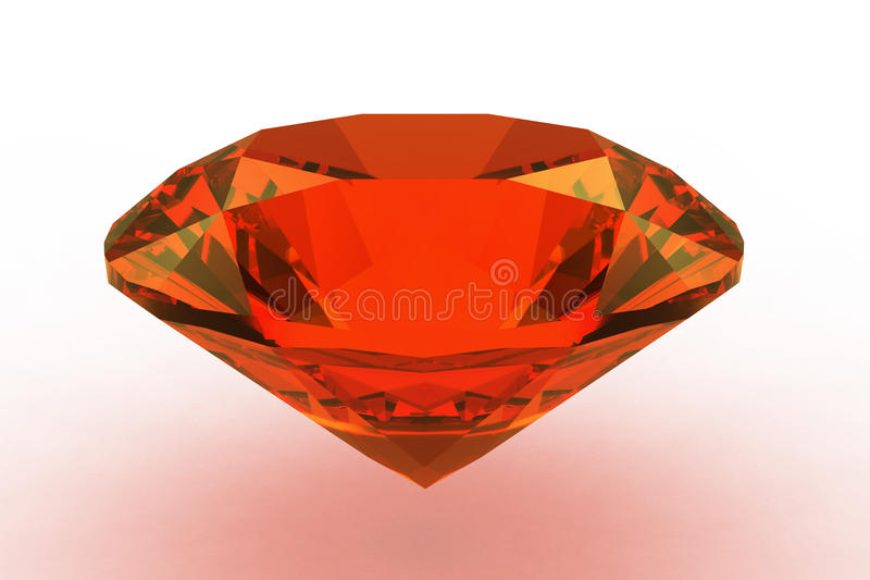 Gemstone redondo alaranjado da safira ilustração royalty free