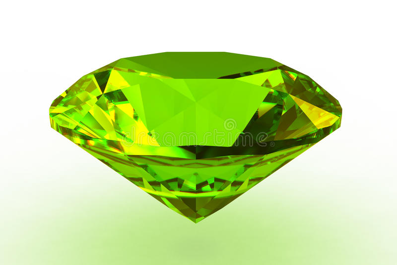 Gemstone verde redondo do topaz ilustração do vetor