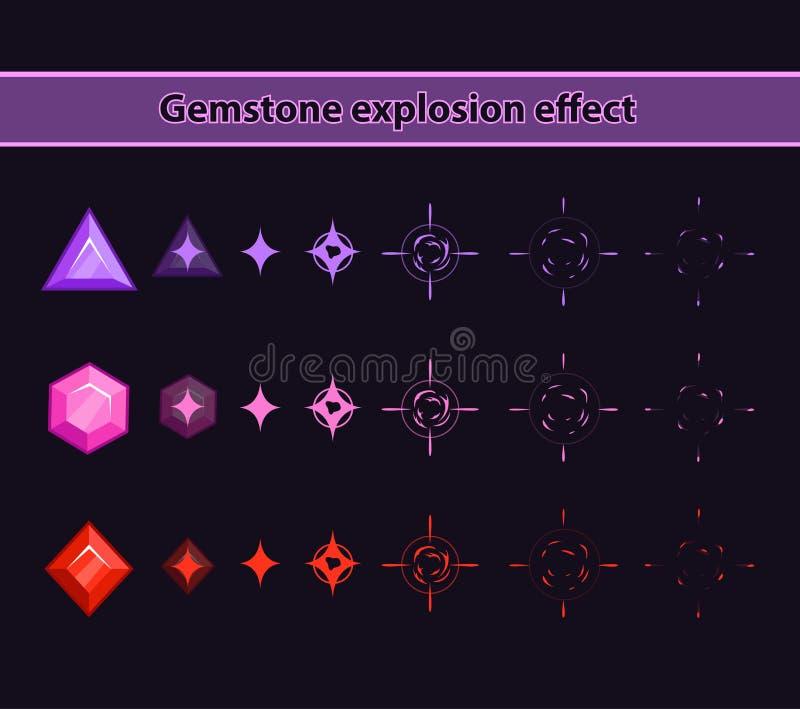 Gemstone wybuchu skutek ilustracja wektor