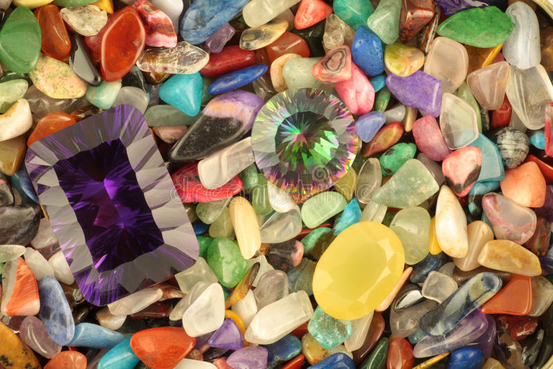 Gemstones stock photo