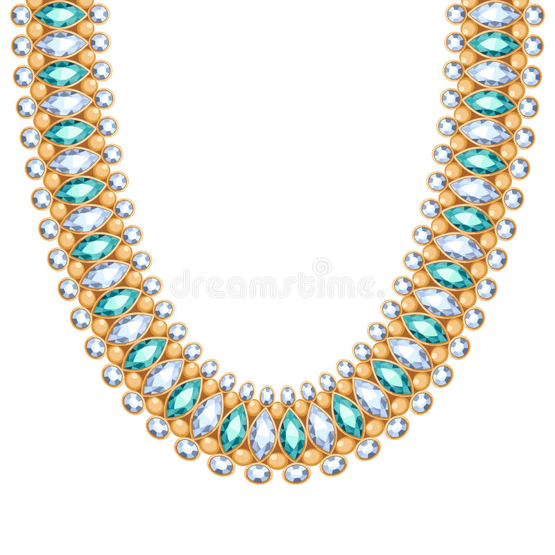 Gemstones Chain Golden Necklace Or Bracelet Stock Vector ...