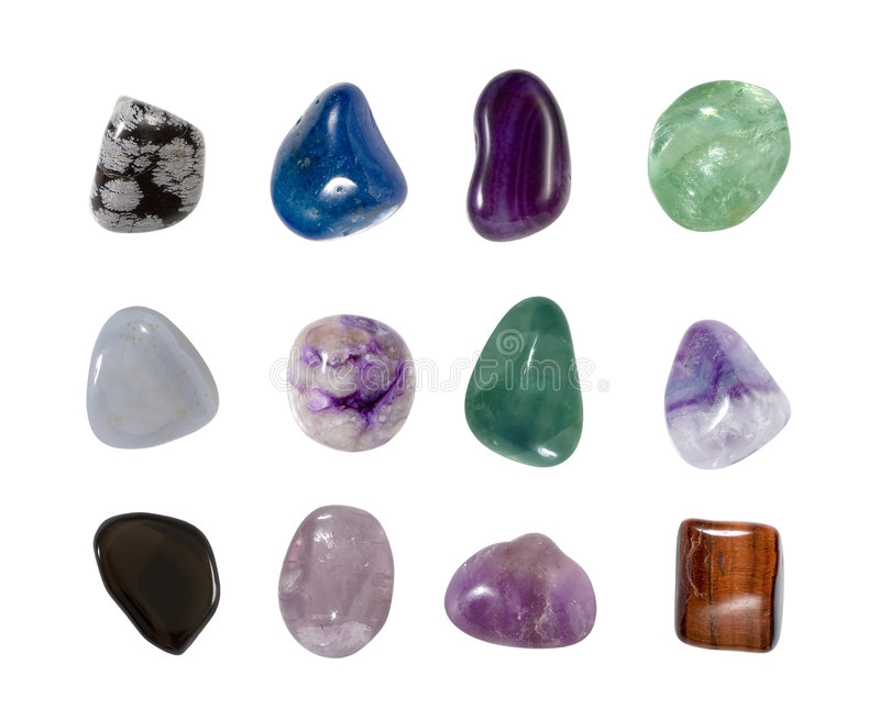 Gemstones de cristal Assorted 1 imagem de stock royalty free