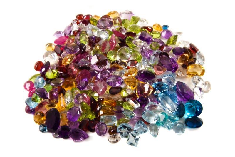gemstones loose stapeln royaltyfri bild
