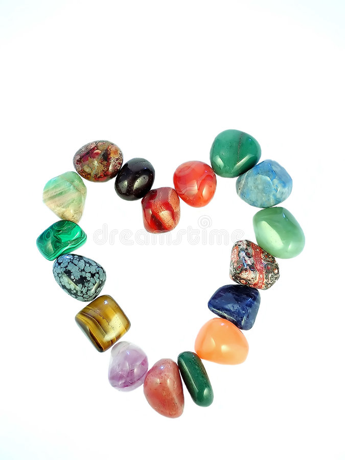 Gemstones Valentine's heart stock photo