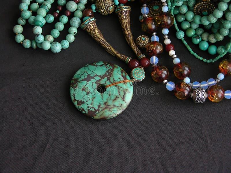 gemstones złota turkus zdjęcia royalty free