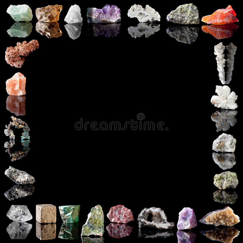 gemstonesmetallmineraler royaltyfri bild