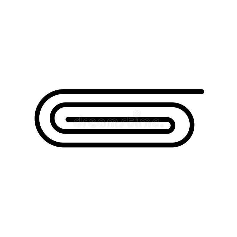 Gemsymbolsvektorn som isoleras på vit bakgrund, fäster ihop tecknet, linje stock illustrationer