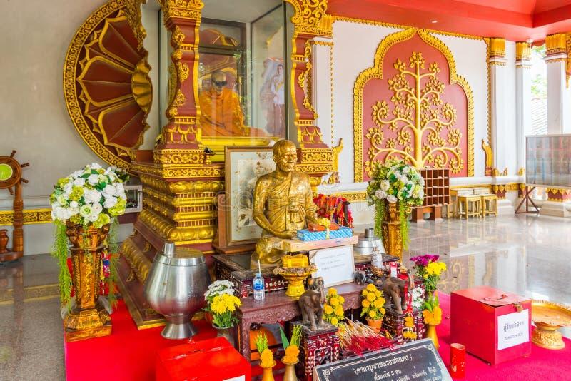 Gemummificeerd monnikslichaam, Wat Khunaram Temple, Koh Samui, Thailand stock fotografie