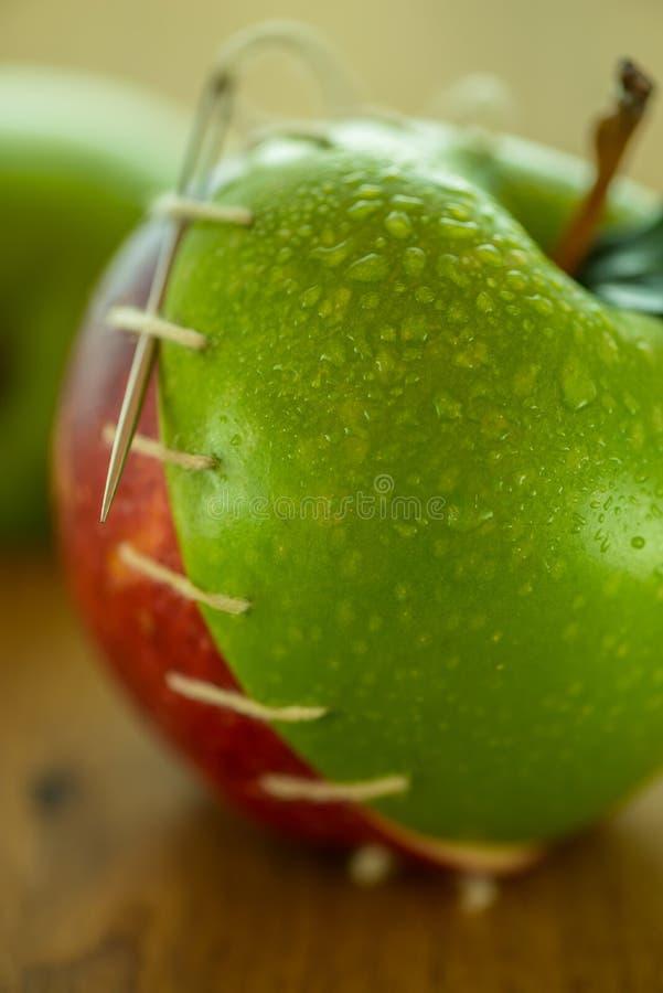 Genähte Äpfel lizenzfreies stockfoto