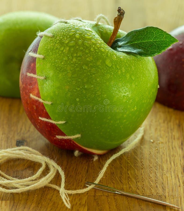 Genähte Äpfel 03 stockbild