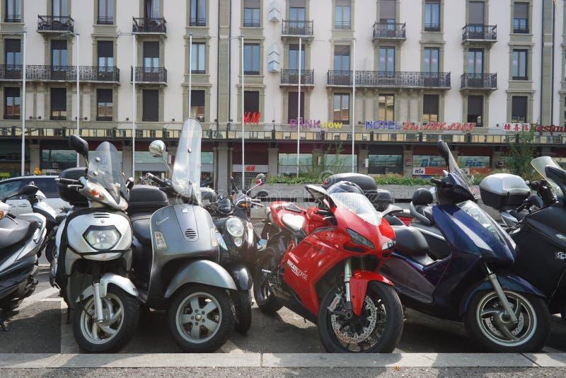 Genève de stad in stock foto