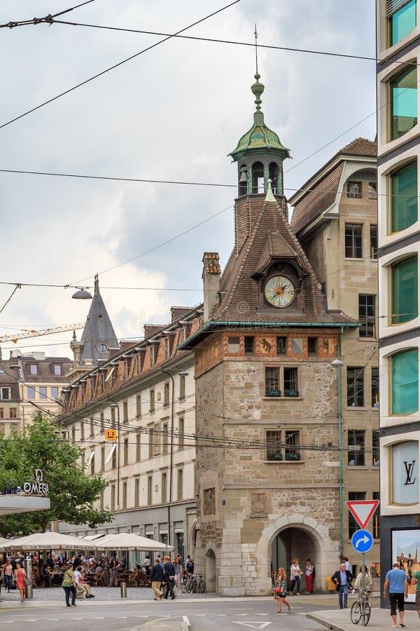Genève för CityscapeMolard torn royaltyfria foton