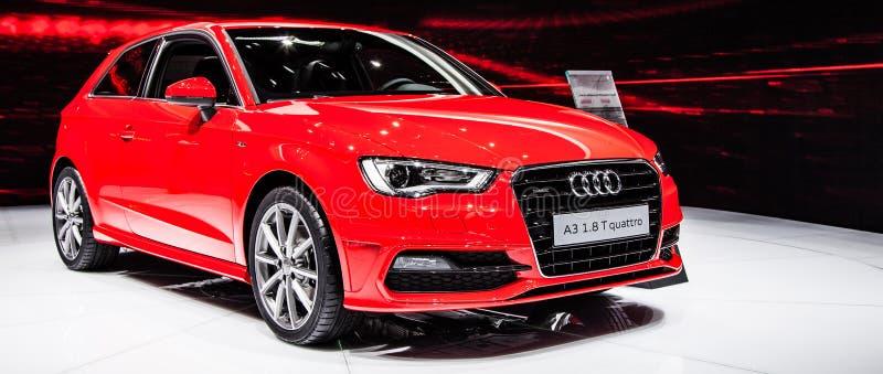 Genève Motorshow 2012 - Audi A3 royalty-vrije stock afbeelding
