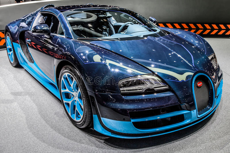 Genève Motorshow 2012 - de Grote Sport van Bugatti Veyron stock afbeeldingen